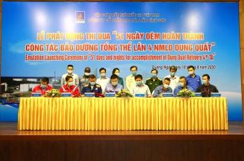 BSR phát động thi đua 51 ngày đêm hoàn thành bảo dưỡng tổng thể Dung Quất