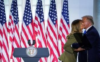 Đệ nhất phu nhân Mỹ phát biểu xúc động giúp ông Donald Trump tranh cử