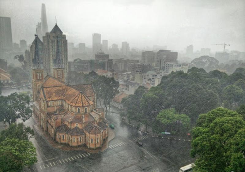 Hai miền Nam, Bắc mưa giông diện rộng -0