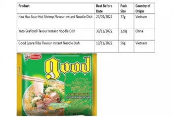 Mì Hảo Hảo của Acecook bị thu hồi ở thị trường Ireland
