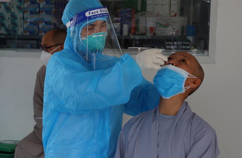 Công an TP Cần Thơ tổ chức tiêm ngừa vaccine cho chức sắc tôn giáo -0