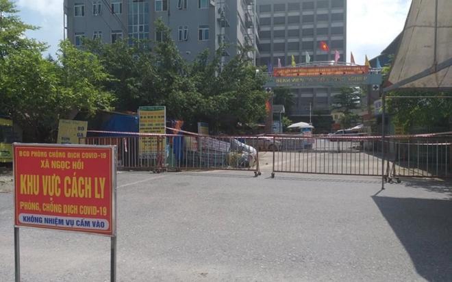 Phong tỏa Bệnh viện Đa khoa Nông nghiệp vì liên quan 3 ca F0 - 1