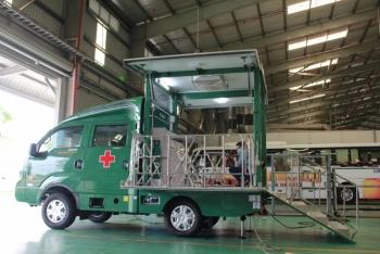 Bệnh viện 199 tiếp nhận 5 xe tiêm chủng vaccine lưu động