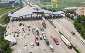 Đề nghị mở thêm làn ''luồng xanh'' để giảm ùn tắc tại chốt Pháp Vân - Cầu Giẽ