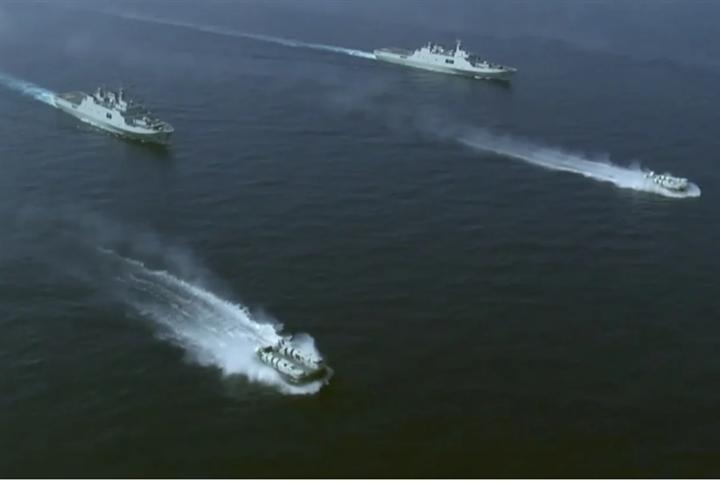 Trung Quốc tập trận bắn đạn thật ở Biển Đông - 1