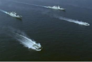 Trung Quốc tập trận bắn đạn thật ở Biển Đông