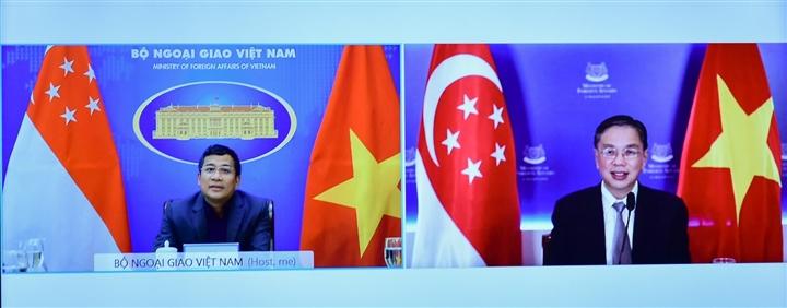 Việt Nam trao đổi kinh nghiệm chống dịch với Singapore - 1