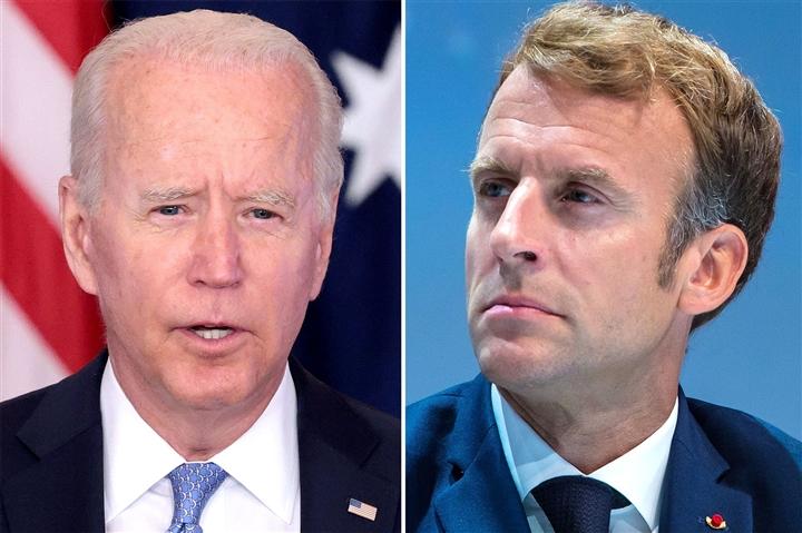 Ông Biden sẽ nói chuyện với Tổng thống Macron để giải quyết căng thẳng  - 1