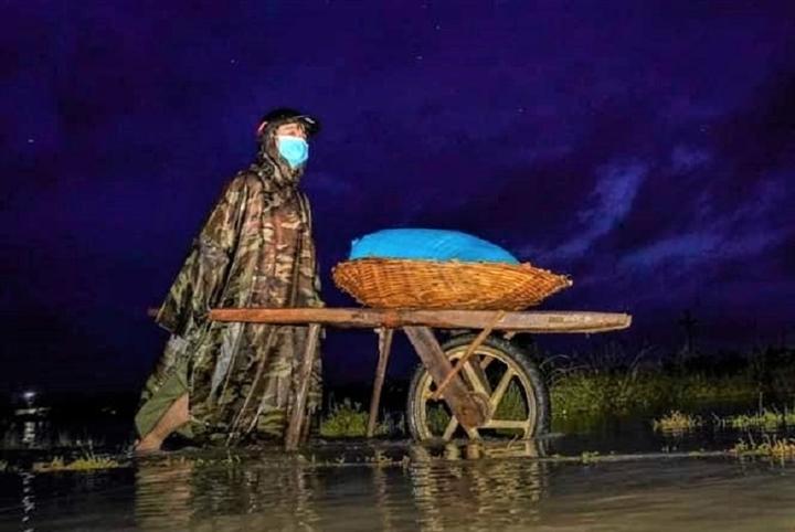 Ảnh: Nhà ngập sau mưa lớn, người dân huyện Quỳnh Lưu, Nghệ An sơ tán tránh lũ - 11