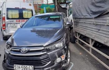 7 ô tô va chạm, gây tai nạn liên hoàn trên quốc lộ 1