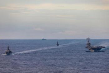 Nhật Bản điều nhóm tàu tới Biển Đông tập trận chống tàu ngầm