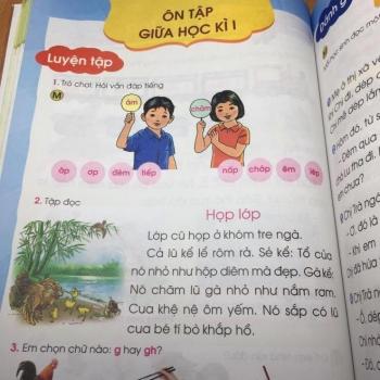 SGK Tiếng Việt 1 bị chê dạy học sinh