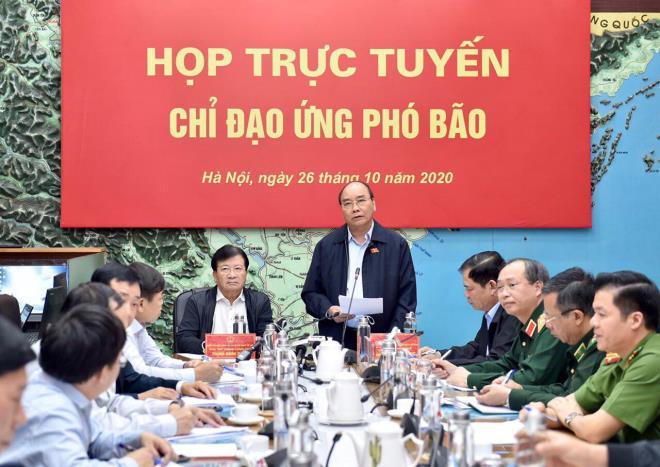 thu tuong hoan tat ca cuoc hop khong can thiet de tap trung ung pho bao lu