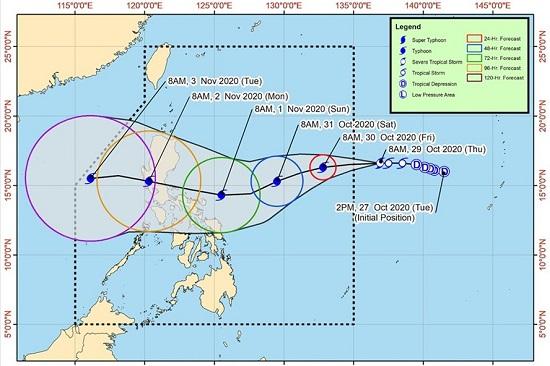 Dự báo bão Goni tăng cấp thành siêu bão trước khi vào biển Đông  - Ảnh 2
