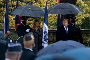 Ông Trump lần đầu xuất hiện trước công chúng sau bầu cử