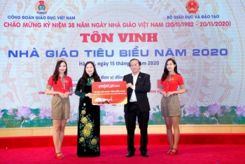 Vietjet tặng vé bay khắp Việt Nam cho các thầy cô giáo tiêu biểu