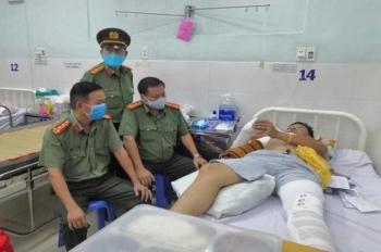Thiếu tá cảnh sát giao thông ở Đồng Nai bị tông gãy tay, chân