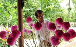 lang hoa giay 400 tuoi o hue don tet