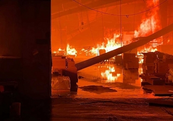 Xưởng gỗ 5.000 m2 bốc cháy