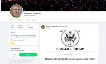 Cựu Tổng thống Trump nói gì trong lần đầu tái xuất trên mạng xã hội?