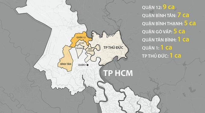Nhiều khu vực ở TP HCM được yêu cầu giãn cách xã hội