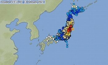 Động đất 7,1 độ ở Nhật Bản