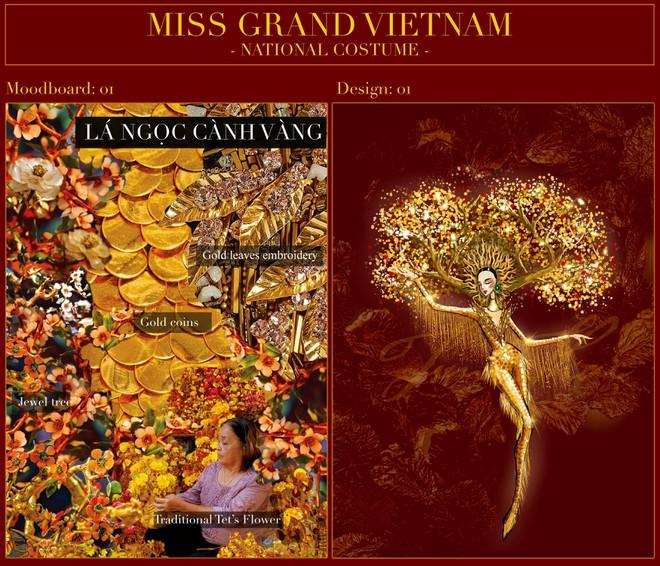 """Đại diện nhan sắc Việt mặc trang phục """"Lá ngọc cành vàng"""" đi thi quốc tế ảnh 2"""