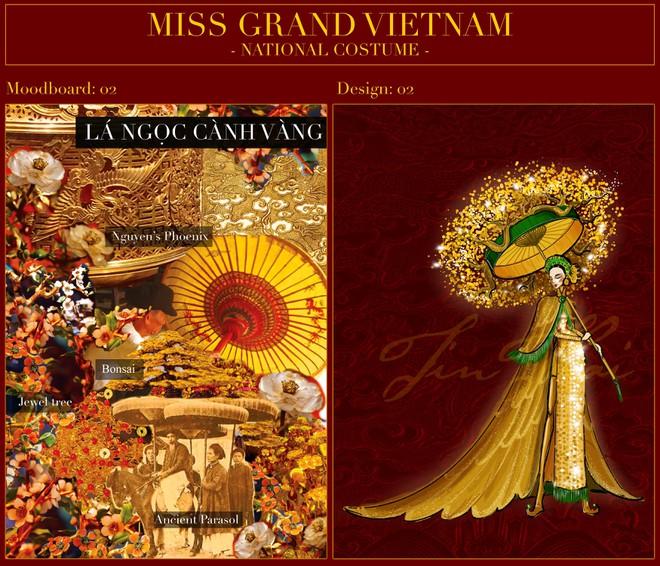 """Đại diện nhan sắc Việt mặc trang phục """"Lá ngọc cành vàng"""" đi thi quốc tế ảnh 3"""