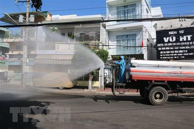 Bình Thuận phun hóa chất khử trùng diện rộng ở thành phố Phan Thiết