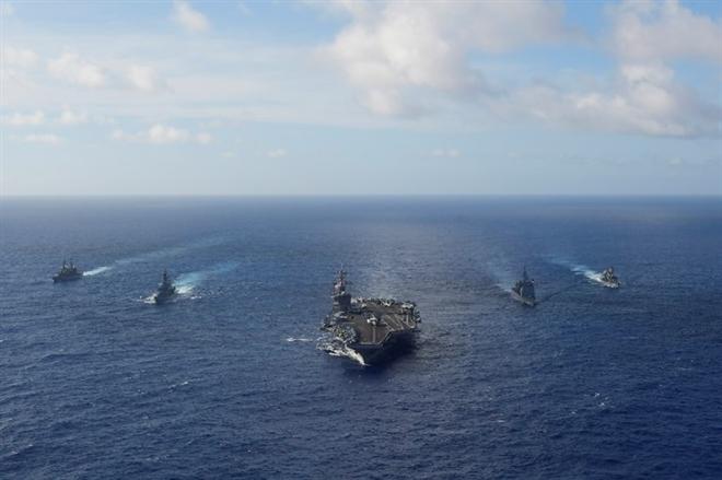 Tàu chiến Mỹ tiếp tục tập trận với Lực lượng Phòng vệ Nhật Bản - 1