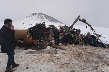 Rơi trực thăng quân sự Thổ Nhĩ Kỳ, 11 người chết