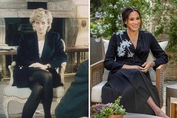"""So sánh hai cuộc phỏng vấn """"bom tấn"""" của Meghan và Diana"""