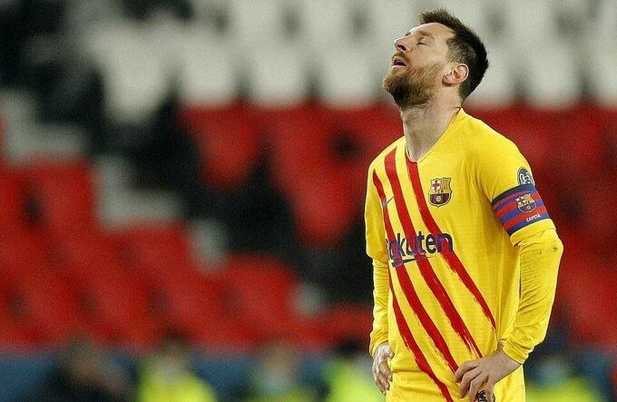 Messi không cứu nổi Barca ở Champions League
