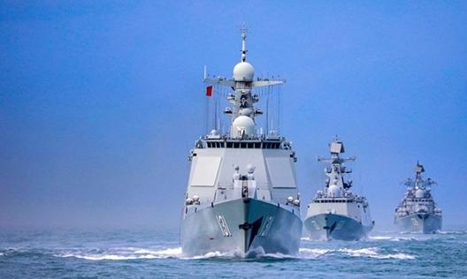 """Trung Quốc vội vã tập trận trên biển trước khi Bộ tứ """"hội quân"""" ở Ấn Độ Dương"""