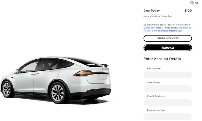Tesla bắt đầu cho mua ôtô bằng Bitcoin