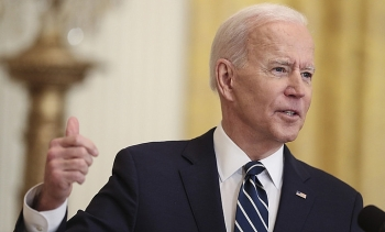 Biden lần đầu họp báo, dọa đáp trả Triều Tiên