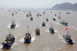 Chuyên gia cảnh báo dân quân Trung Quốc 'đang phủ khắp đường 9 đoạn'