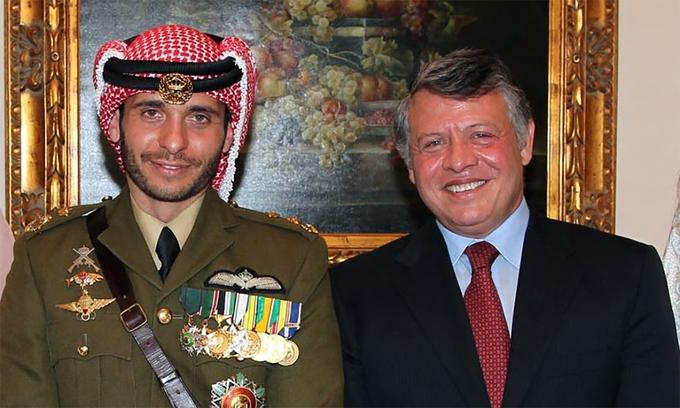 """Cựu thái tử Jordan bị tố """"âm mưu lật đổ quốc vương"""""""