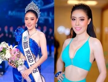 Hoa hậu Thế giới Lào trả vương miện