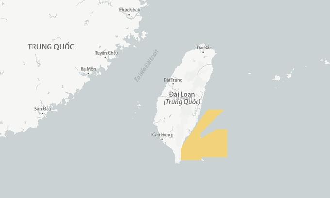 Tàu chiến Trung Quốc xuất hiện gần nơi Đài Loan thử tên lửa