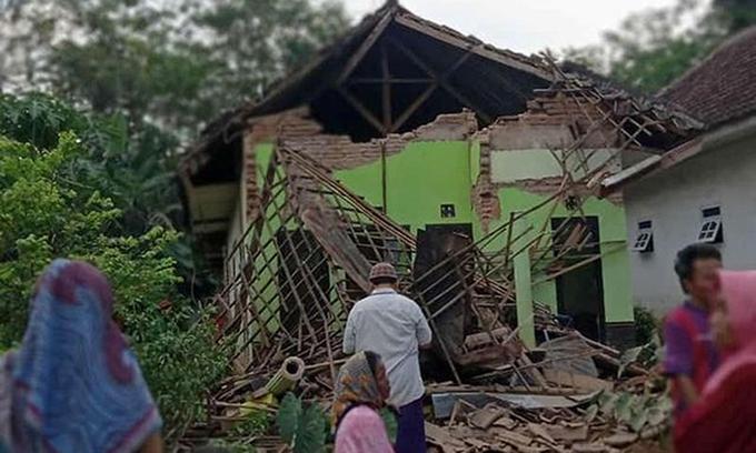 Động đất ở Indonesia, 7 người chết