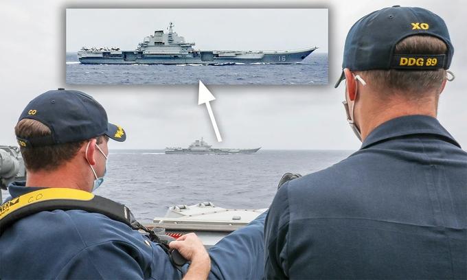 Tàu sân bay Mỹ - Trung dằn mặt nhau trên Biển Đông