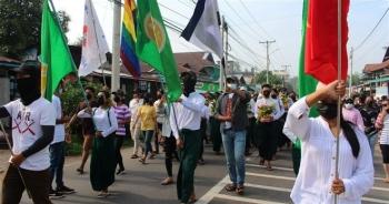 Thủ lĩnh biểu tình ở Myanmar bị bắt giữ