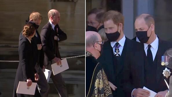 William và Harry trò chuyện sau tang lễ ông nội