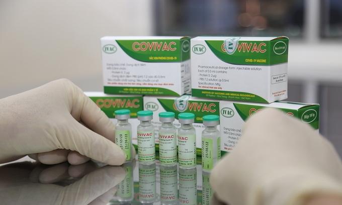 Bắt đầu tiêm thử nghiệm mũi hai vaccine Covivac