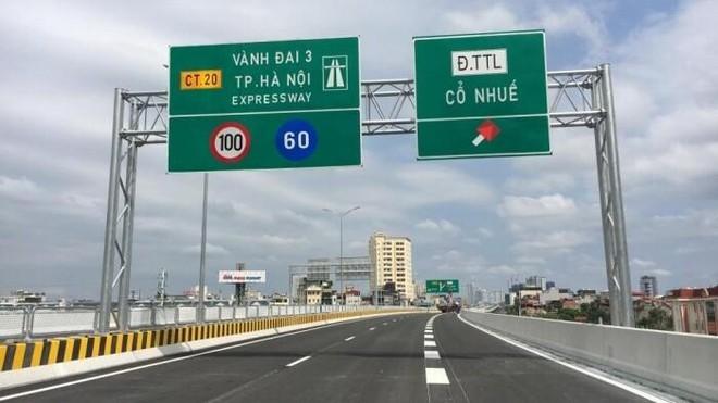 Cấm toàn bộ phương tiện lưu thông đường vành đai 3 trên cao, đoạn Mai Dịch- cầu Thăng Long
