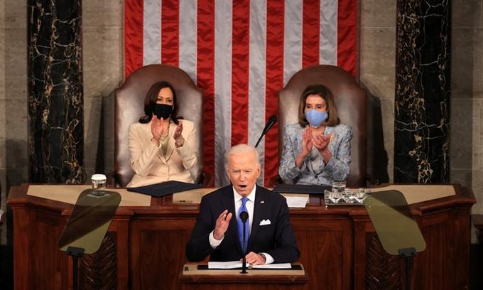 Tổng thống Biden lần đầu phát biểu trước quốc hội