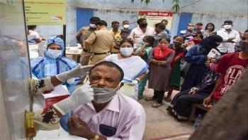Số ca mắc COVID-19 trong ngày ở Ấn Độ tiếp tục lập kỷ lục