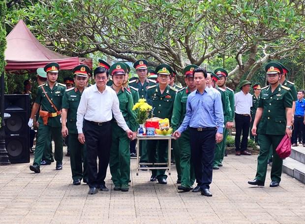 Truy điệu và an táng hài cốt liệt sỹ tại nghĩa trang liệt sỹ Vị Xuyên