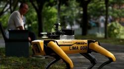 singapore dung cho robot giam sat nguoi dan thuc hien gian cach xa hoi